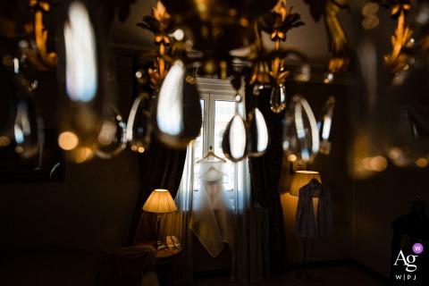 Sofia Hotel Balkan artistic wedding dress hanging image