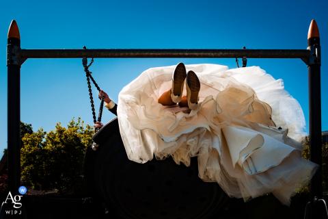 Heusden City artistiek huwelijk Schommel langs foto tegen een blauwe lucht