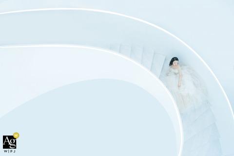 Wenzhou, Zhejiang foto artística de la boda de un hotel en las escaleras blancas