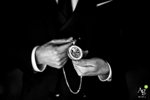 Eupilio Lecco wedding detail photography showing the family heirlooms, grandfather's precious watch