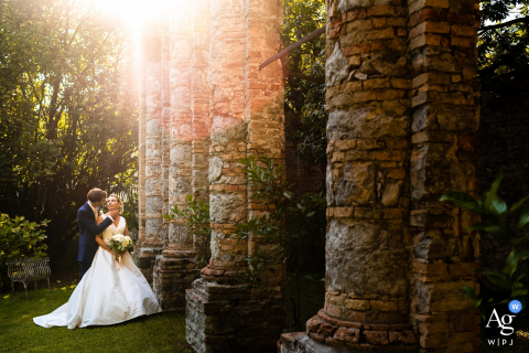 Cervignano, Udine artistic wedding portrait in beautiful light