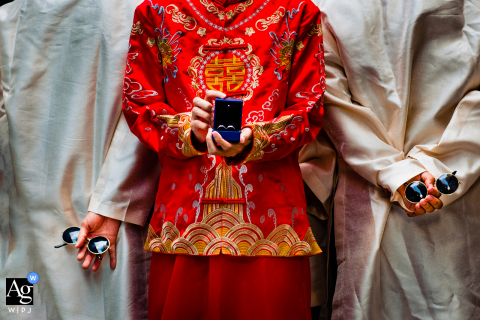 Artistic wedding detail image from Vietnam wedding photographer