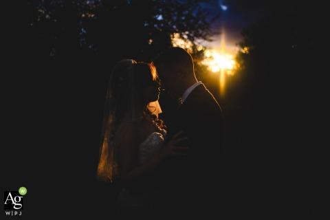Agriturismo Il Pendolino, Tuscany wedding couple posed portrait session at sunset