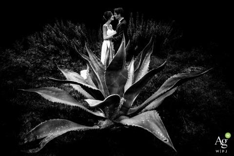 Sesión de retrato de boda de los novios de Napoli