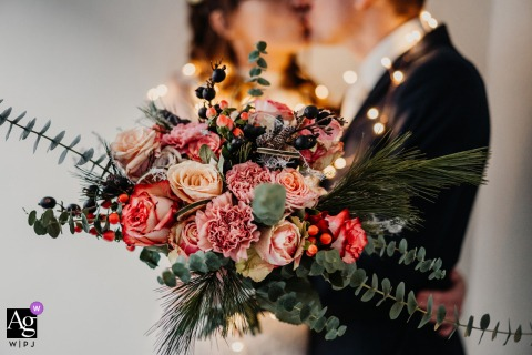 Dinslaken, Germany creative wedding day Bridal bouquet portrait Winter Edition