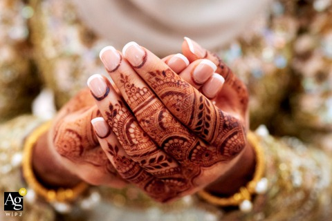 Henna wedding photo from Birmingham, UK	showing us the Bride's hands