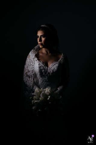 Allegro Buffet wedding bride artistic image session of the bride with her flowers