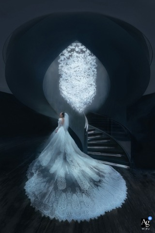 Guangxi wedding bride artistic image session of the bride and her dress