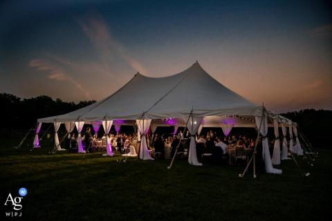 Photographie de cérémonie en plein air pour le lieu de mariage de Saratoga Springs, NY