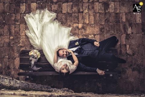 Fondi Monte San Biagio wedding couple artistic image session in Lazio, IT following a Roma marriage ceremony