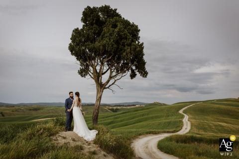 Crete Senesi, Siena wedding couple artistic image session during an Elopement in Tuscany