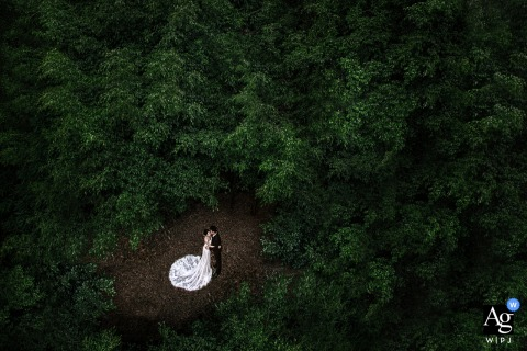 Guangxi wedding couple artistic image session from Nanning in the Love Forest