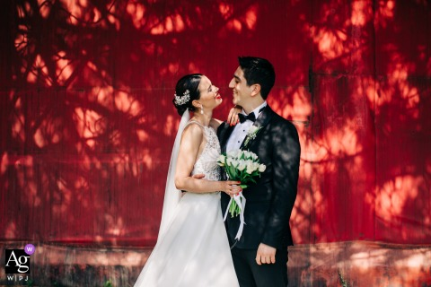 Ankara Binicilik Club wedding couple artistic image session with some real Red Love