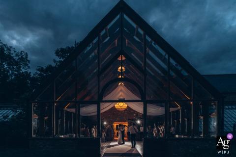 Hanbury Manor, Hertfordshire wedding venue reception, photography during a dusk first dance