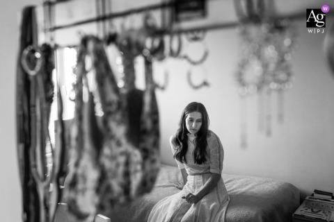 Etiler, Istanbul, sessione di immagine artistica della sposa per i ritratti della sposa prima della cerimonia
