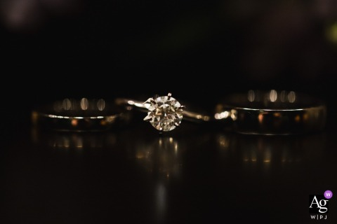 Sofitel Singapore City Centre artful style wedding detail picture showing The wedding and engagement rings in a row