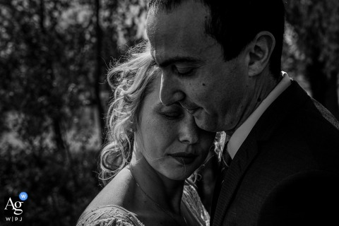 Metz wedding couple artistic image session in BW showing Love stops time