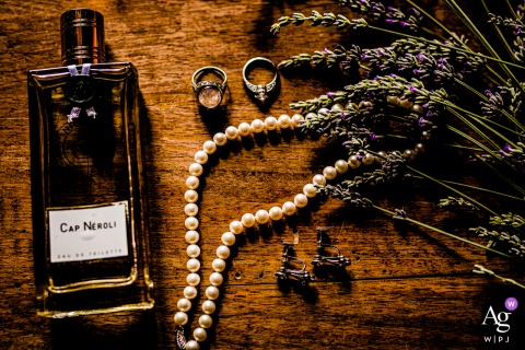 Castello di Torre Alfina, Italy artful style wedding detail picture of the brides things