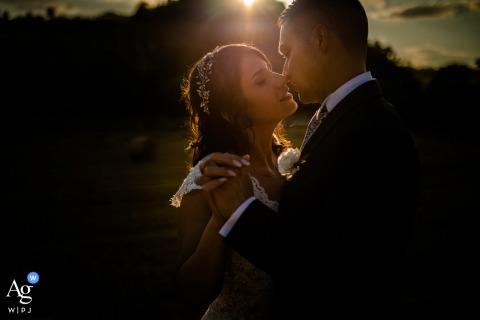 Tenuta Carretta, Italy wedding couple artistic image session during A magic sunset