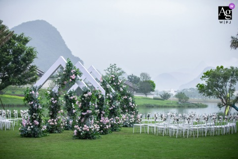 Beijing wedding venue outdoor ceremony photography from the China Hotel
