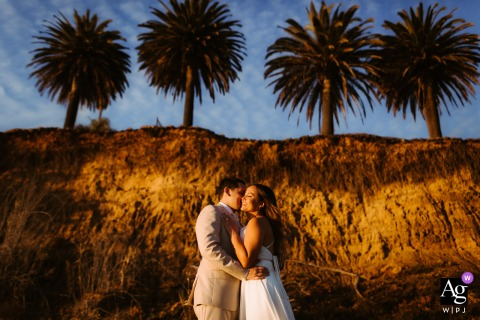 View thisdramatic Santa Barbara wedding day afternoon Sunset vibes at the beach, which was a featured pictureamong the best wedding photography in California from the WPJA