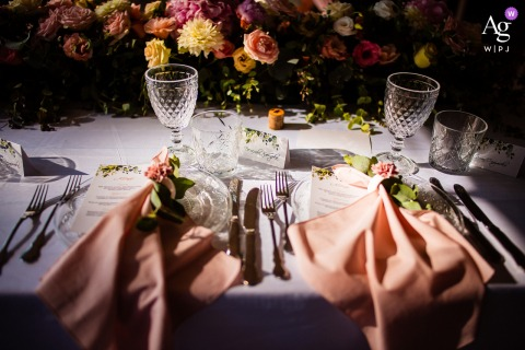 View thiselegant Goliama Zelezna photo of The wedding table of bride and groom, which was a featured pictureamong the best wedding photography at Raiski Zaliv in Bulgaria from the WPJA