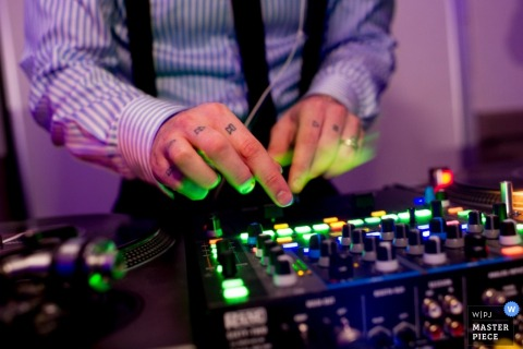 Nova Scotia DJ playing music at the reception - Canada wedding photography