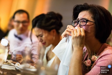 San Fransisco guests start to cry at the reception - California wedding photo