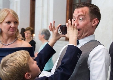 Cindy Brown of Georgia is a Wedding Photographer that knows how to make a funny image from a reception.