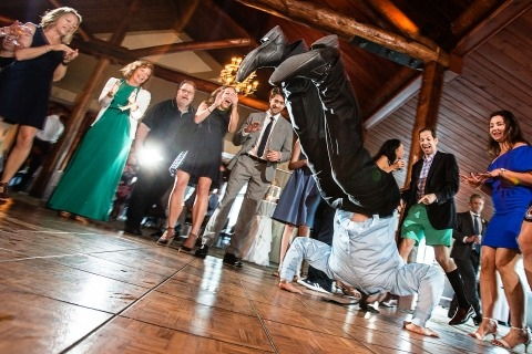 NJ Wedding Photographer Todd Laffler loves the dance floor action, like the worm and other break dancing moves by guests. :)