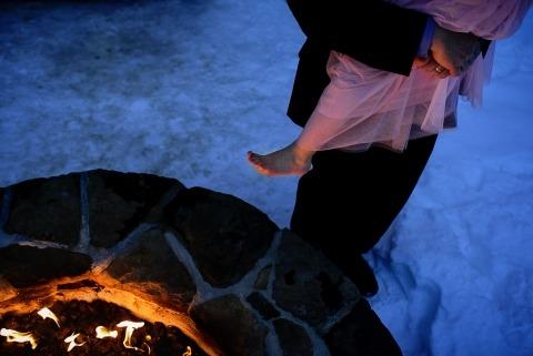 Hinterhof-Vermont-Hochzeiten durch Fotografen Jacob Hannah