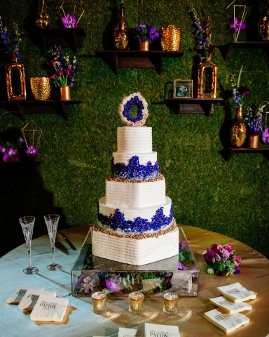 Wedding Photographer Andrea Mabry of Alabama made this cake detail shot during the reception party.