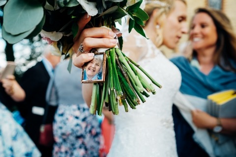 Bridal Bouquet detail by Marianne Chua of London, United Kingdom wedding reportage