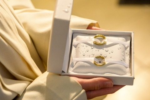 Wolfgang Burkart of Germany is a Wedding Photographer for ring details in the church