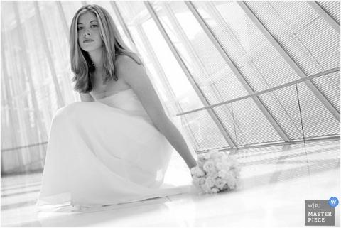 Portrait of the bride in light tones