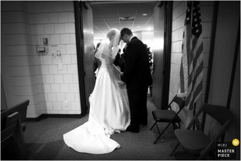 A quiet moment with the bride