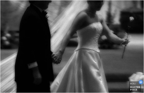 fine art motion wedding image