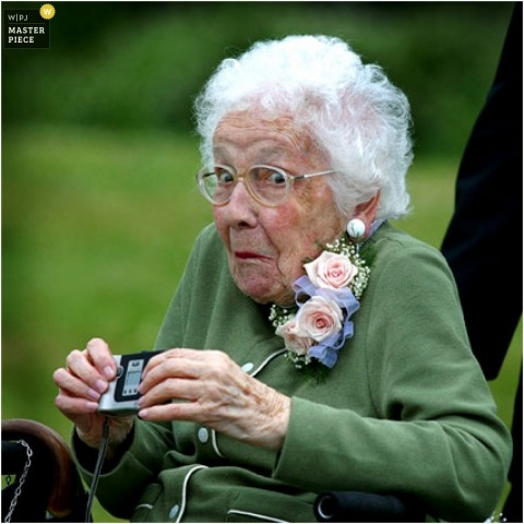 grandma caught with her camera