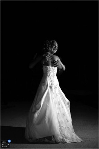 Bride dancing with her father on wedding day created by South Carolina wedding photographer