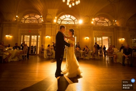 Chicago first dance wedding image of the bride and groom
