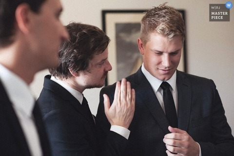 Sydney Artistic Wedding Photographer | Image contains:groom, groomsmen, getting ready, suit
