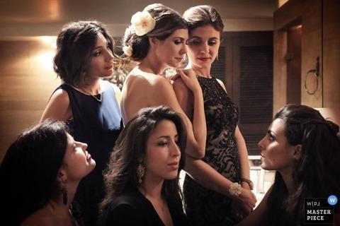 Paris Documentary Wedding Photographer | Image contains: bride, family, bridesmaids, ceremony, getting ready