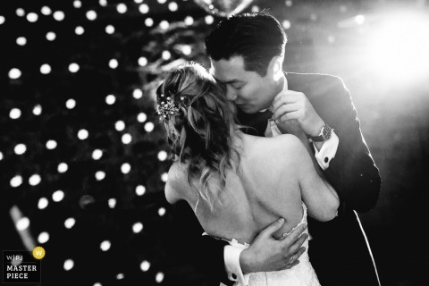 Badem-Wurttemberg Wedding Photojournalism | Image contains: black and white, groom, bride, wedding reception, dancing