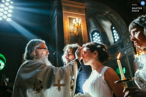 Wedding Photographer | Image contains: bride, groom, church, ceremony, candles