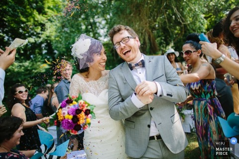 Lower Saxony wedding photographer caught the bride and grooms happy faces as they walk down the aisle after becoming husband and wife