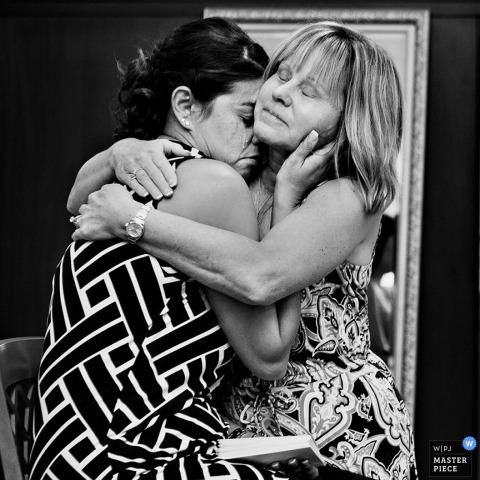 Key West bridesmaids hug at the wedding - Florida wedding photo
