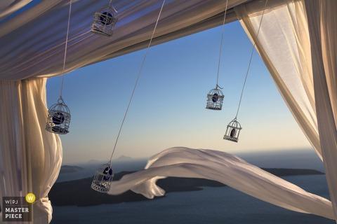Santorini-lichten bij de bruiloft - South Aegean-huwelijksfotojournalism