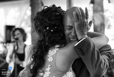 Catania man crying at the reception - Sicily wedding photojournalism