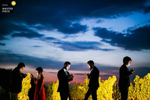 Huwelijksfoto van buitenontvangst uit Latina