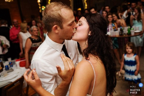 Victoria bride and groom kiss during their dance at the reception | British Columbia wedding reportage photography